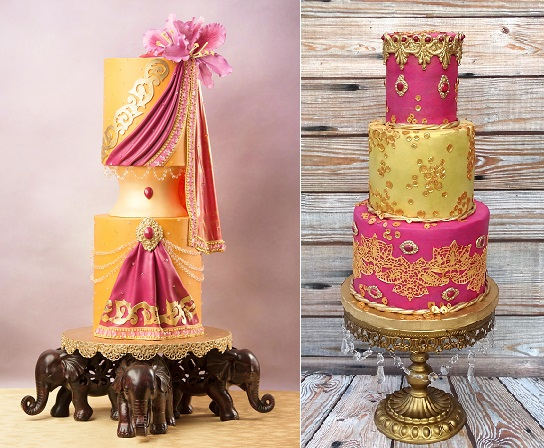 Indian-Inspired Fashion Cakes Collaboration
