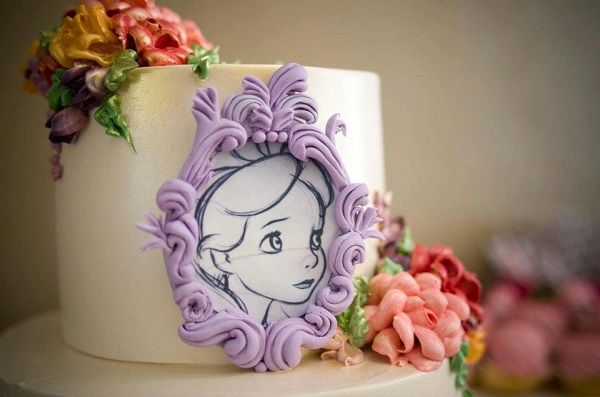 framed portrait princess cake by Tuff Cookie Cakes