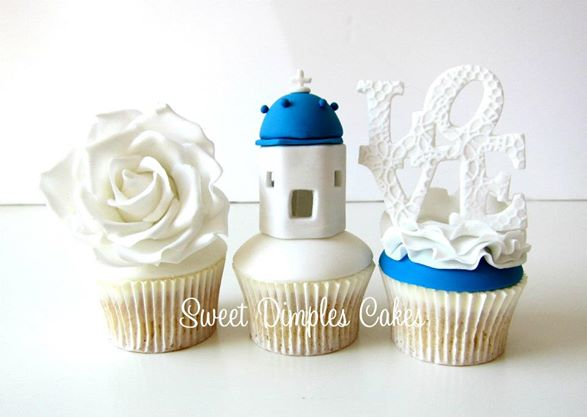 lighthouse cupcake topper nautical cupcakes by Sweet Dimples Cakes