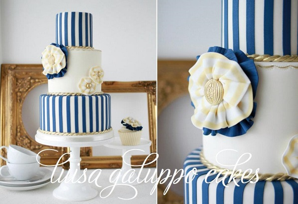 nautical wedding cake by Luisa Galuppo Cakes