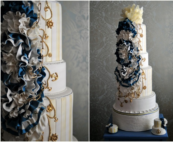 nautical wedding cake by The Caketress, Joee Wong Photography