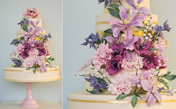 English Country Garden wedding cake by Rosalind Miller