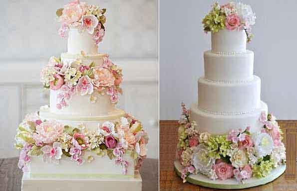 English garden wedding cakes cake geek magazine for Outdoor wedding cake ideas