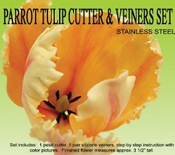 parrot tulip cutter and veiners set