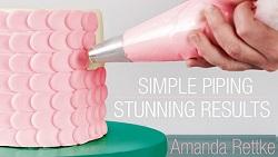 Amanda Rettke buttercream piping tutorial on Craftsy