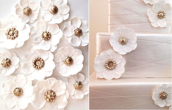 button centred sugar flowers by Eat Cake Be Merry