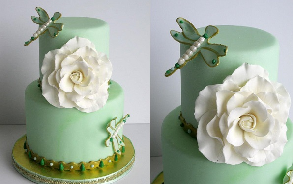 dragonfly-wedding-cake-in-mint-by-Madame-Gateau-Cake-Boutique