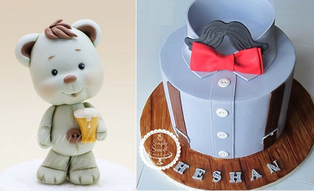 father's day cake topper by Rouvelee's Creations left, shirt cake by Simply Sweet Cakes & Cupcakes right