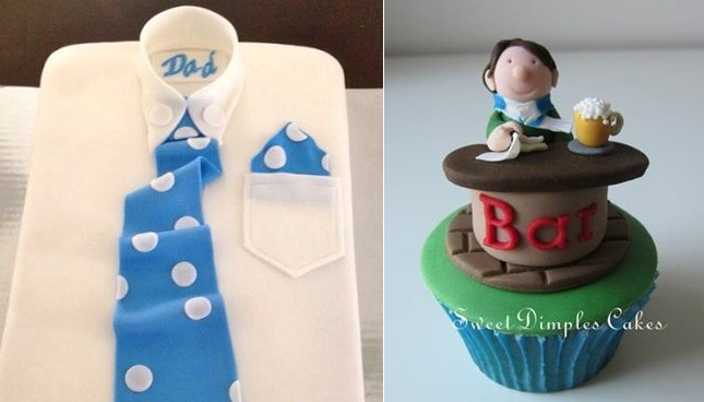 father's day cakes by A Cake for All Reasons left, Sweet Dimples Cakes right
