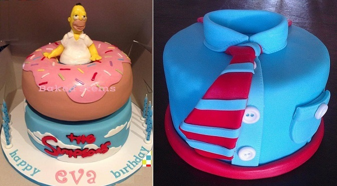 fathers day cakes by Baked Stems left, BE Sweet on Flickr right