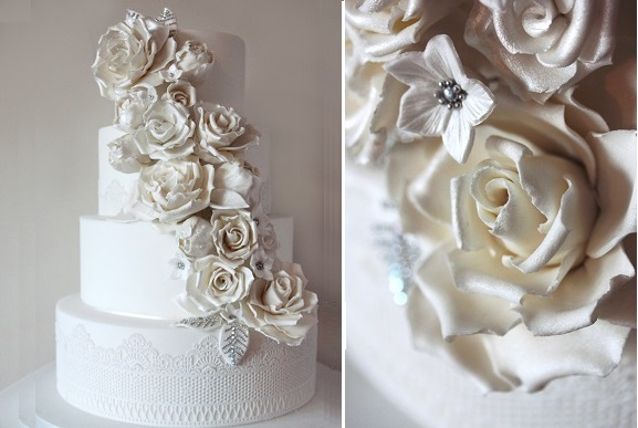 jewelled sugar flowers by Edible Essence Cake Art, Plymouth