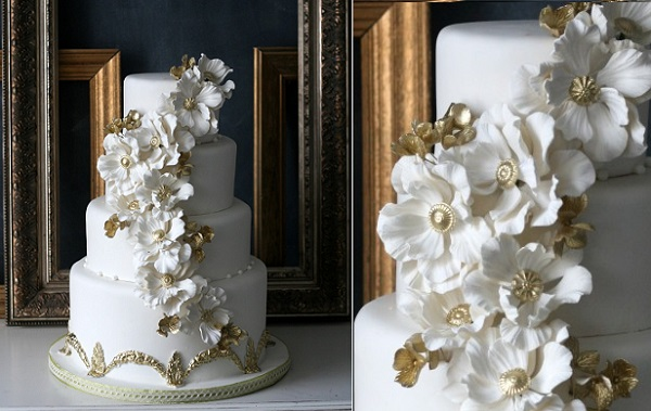 jewelled sugar flowers by The Caketress