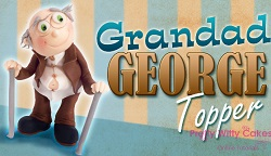 grandad topper tutorial on Pretty Witty Cakes