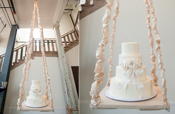 Suspended Wedding Cake via Style Unveiled