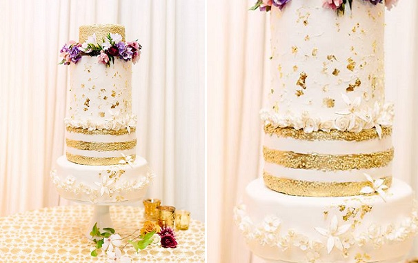 floral crown wedding cake for the boho bride by Megan Joy Cake Design, Tess Pace Photography.