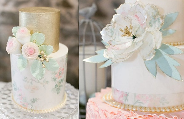wafer paper flowers by Vintage Blossom Cakes, Lydia Takeoka Photography