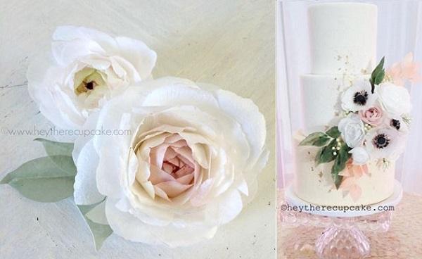wafer paper flowers by Hey There Cupcake
