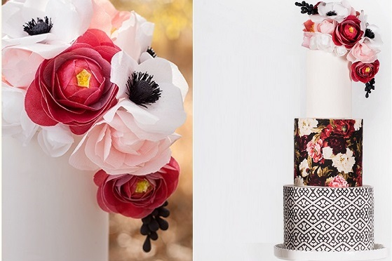 wafer paper flowers by Stevi Auble of Hey There Cupcake for Craftsy