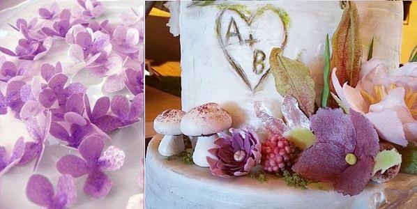 wafer paper flowers by Sweet Petal Bakery NL left