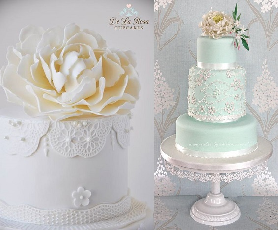 beaded lace wedding cakes De La Rosa Cupcakes l, Cakes by Christine r