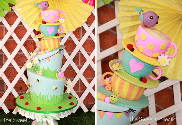 garden party cake by The Sweet Collection, Sydney