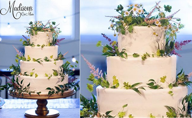 meadow flower wedding cake by Madisons on Main, Kevin Paul Photography