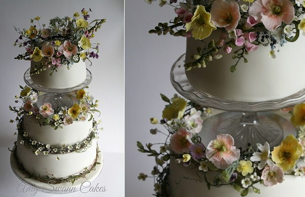 wildflower wedding cake by Amy Swann Cakes