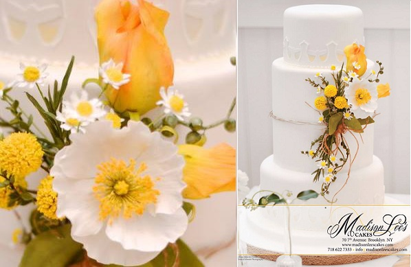 wildflower wedding cake by Madison Lee's Cakes