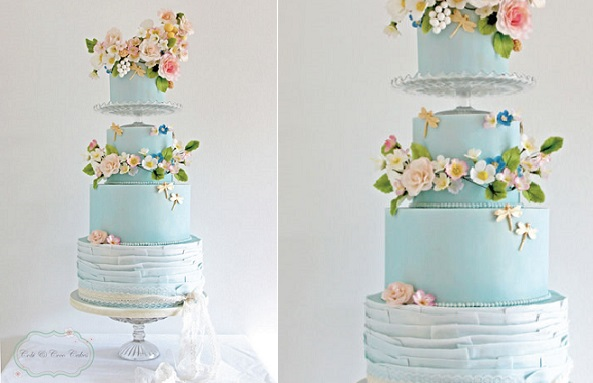 wildflower wedding cake for the boho bride by Cobi & Coco Cakes