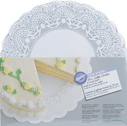 lace cake boards by Wilton