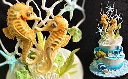 seahorse cake tutorial from Yener's Way