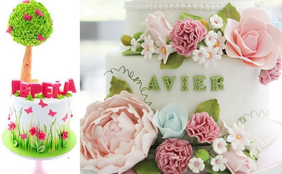 garden party cakes from Bella Cupcakes, New Zealand left, Little House of Dreams, right