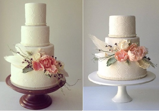 botanical style wedding cakes via The Cake That Ate Paris