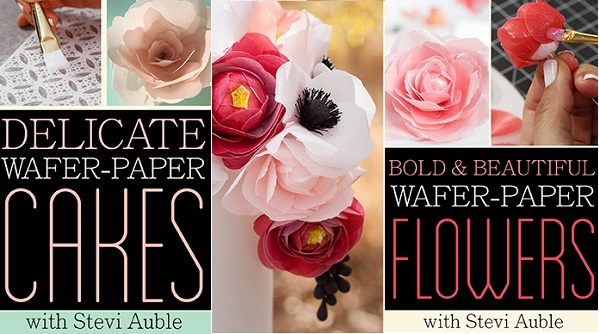 wafer paper tutorials by Stevi Auble on Craftsy