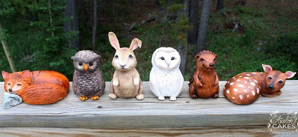 woodland animals by Avalon Cakes