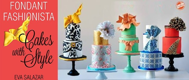 fashion effects in fondant with bows tutorial by Eva Salazar on Craftsy