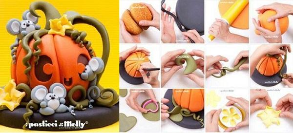 halloween pumpkin cake tutorial by Pasticci  di Molly