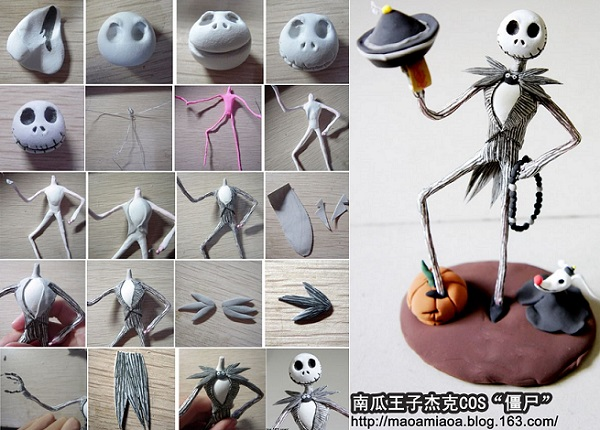 halloween skeleton cake topper tutorial