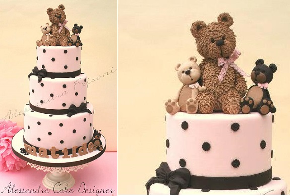 teddy bear cake by Alessandra Frisoni