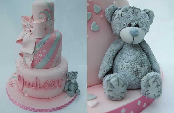 vintage teddy bear cake for girls by Emma Jayne Cakes