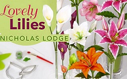 gumpaste lillies tutorial by Nicholas Lodge on Craftsy