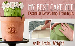 Lesley Wright cake decorating tutorial on Craftsy