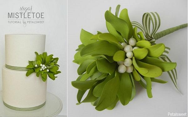 gumpaste mistletoe tuorial by Jacqueline Butler of Petalsweet