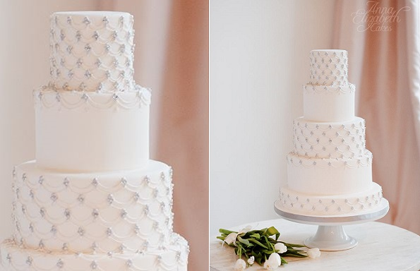 jewelled winter wedding cake by Anna Elizabeth Cakes