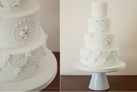 winter wedding cake for Christmas wedding by Miso Bakes