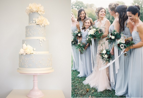 pale blue wedding cake by Rosalind Miller