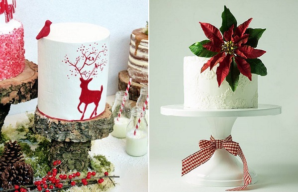 christmas cakes by Have Some Sugar Portugal left, Lina Veber Cake right