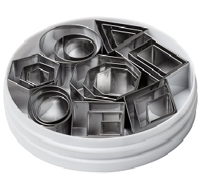 small shapes cutters by Ateco 24 piece set