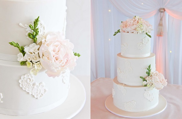 freesia wedding cake by The Dainty Baker