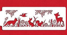 woodland animals stencil
